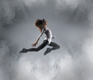 Young, attractive and sporty female dancer Royalty Free Stock Photography
