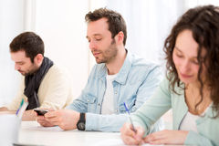 Young attractive student during classes Stock Image