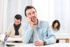 Young attractive student during classes Stock Photography