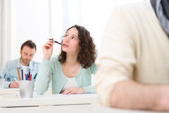 Young attractive student taking exams Royalty Free Stock Image