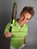 Young attractive tennis player Royalty Free Stock Photography