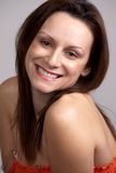 Young attractive twenties caucasian brunette woman Stock Image