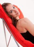 Young attractive twenties caucasian woman relaxing Stock Image
