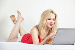 Young attractive twenties caucasian woman relaxing Royalty Free Stock Image