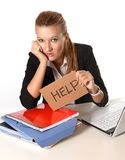 Young Attractive Woman asking for help Stock Image