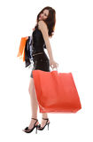 Young attractive woman with bags Royalty Free Stock Image