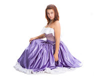 Young attractive woman in ball dress Royalty Free Stock Image