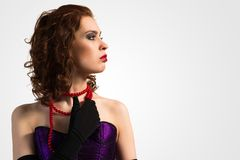 Young attractive woman in corset Royalty Free Stock Photo