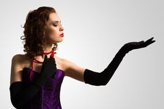 Young attractive woman in corset Stock Image