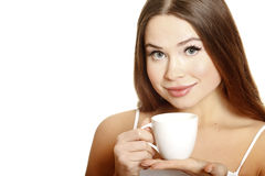 Young attractive woman with cup Stock Photography
