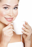 Young attractive woman with cup Stock Photo