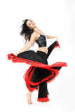 Young attractive woman dancing flamenco Stock Images