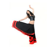 Young attractive woman dancing flamenco Royalty Free Stock Photography