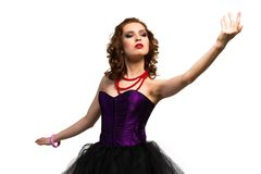 Young attractive woman dancing Royalty Free Stock Photos