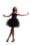 Young attractive woman dancing Royalty Free Stock Images