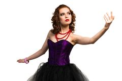 Young attractive woman dancing Royalty Free Stock Photo