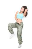 Young attractive woman doing fitness Stock Photography