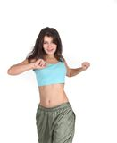 Young attractive woman doing fitness Stock Photos