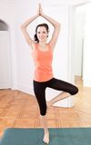 Young attractive woman doing pilates Royalty Free Stock Image
