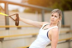 Young woman sport training Royalty Free Stock Images