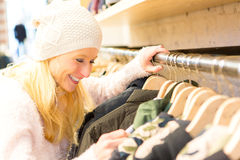Young attractive woman enjoying sales Stock Photography