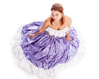 Young attractive woman in evening gown royalty free stock images