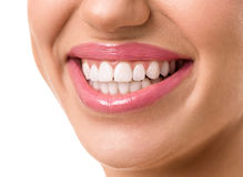 Young attractive woman face with a clean white teeth Royalty Free Stock Images
