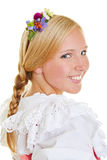 Young attractive woman with flowers in hair Stock Images