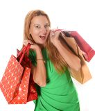 Young attractive woman going shopping Stock Image