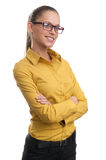 Young attractive woman happy smile Stock Photos