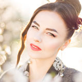 Young attractive woman with japanese style makeup Royalty Free Stock Photography