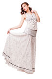 Young attractive woman with long dress Stock Images