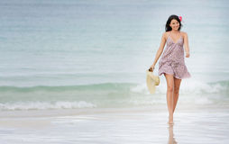 Young Attractive Woman On Beach Royalty Free Stock Photos