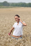 Young attractive woman on the phone Royalty Free Stock Photos