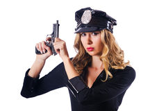 Young attractive woman police Stock Photo