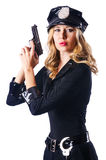 Young attractive woman police Stock Images