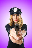 Young attractive woman police Stock Photos