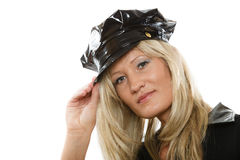 Young attractive woman police Royalty Free Stock Image