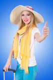 Young attractive woman ready for summer vacation Stock Photography