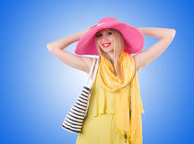 Young attractive woman ready for summer vacation Stock Photos