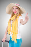Young attractive woman ready for summer vacation Stock Images