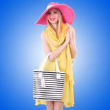 Young attractive woman ready for summer vacation Royalty Free Stock Photo