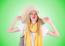 Young attractive woman ready for summer vacation Stock Photo