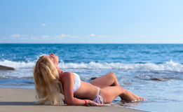 Young attractive woman relaxing on Stock Photo