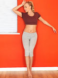 Young Attractive Woman Resting After a Fitness Workout Stock Photos