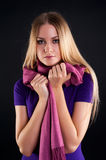 Young attractive woman with scarf Stock Photography