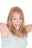 Young attractive woman screaming Stock Image