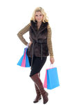 Young attractive woman after shopping Stock Photo