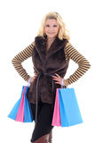 Young attractive woman after shopping Stock Image