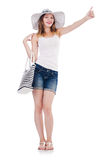 Young attractive woman in summer vacation Stock Images